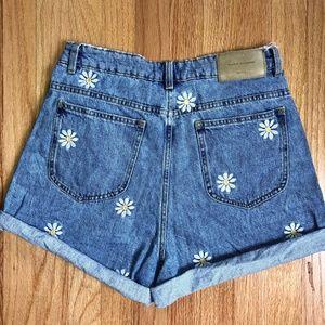 03da7794fd Zara Shorts | Daisy Embroidered Jean | Poshmark